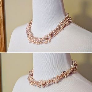 Jewelry - NWT 4 strands genuine freshwater pearls necklace